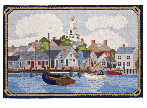 Cat Boats in Nantucket Harbor 3 x 5 R1011