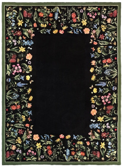 Botanical 9 x 12 Black R1053BK