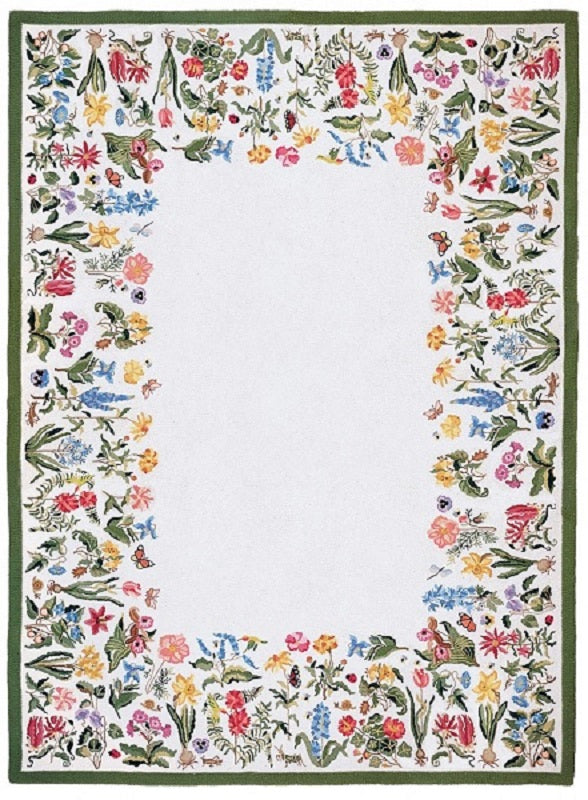 Botanical 9 x 12 White R1053WH