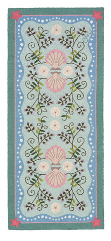 Seashell and Beachpea 5' Runner R1163