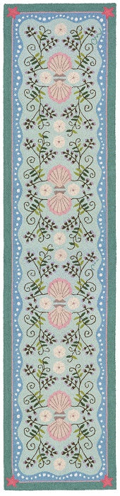 Seashell and Beachpea 10' Runner R1246