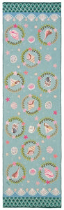 Seashell Medallion 10' Runner R1266a