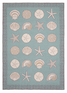 Cape Contemporary Shells w/waves 5 x 7 R1283AQ