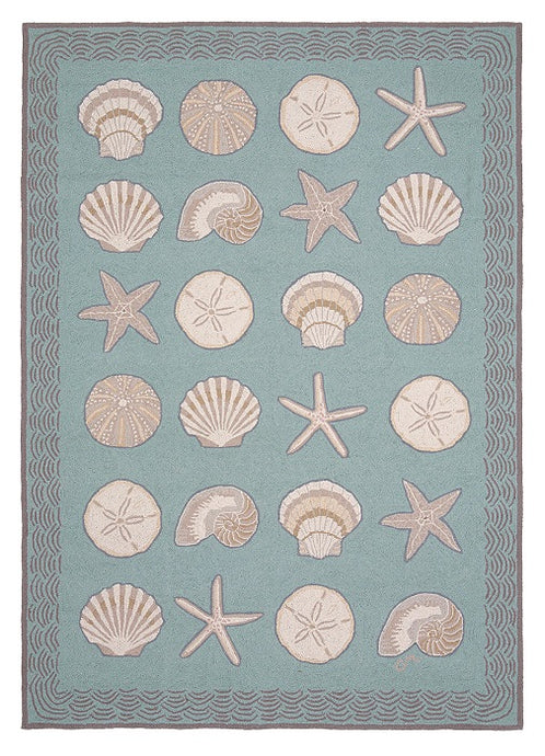 Cape Contemporary Shells w/waves 7 x 9 R1343AQ