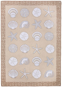 Cape Contemporary Shells w/waves 5 x 7 R1283BG