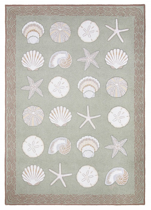 Cape Contemporary Shells w/waves 5 x 7 R1283GR