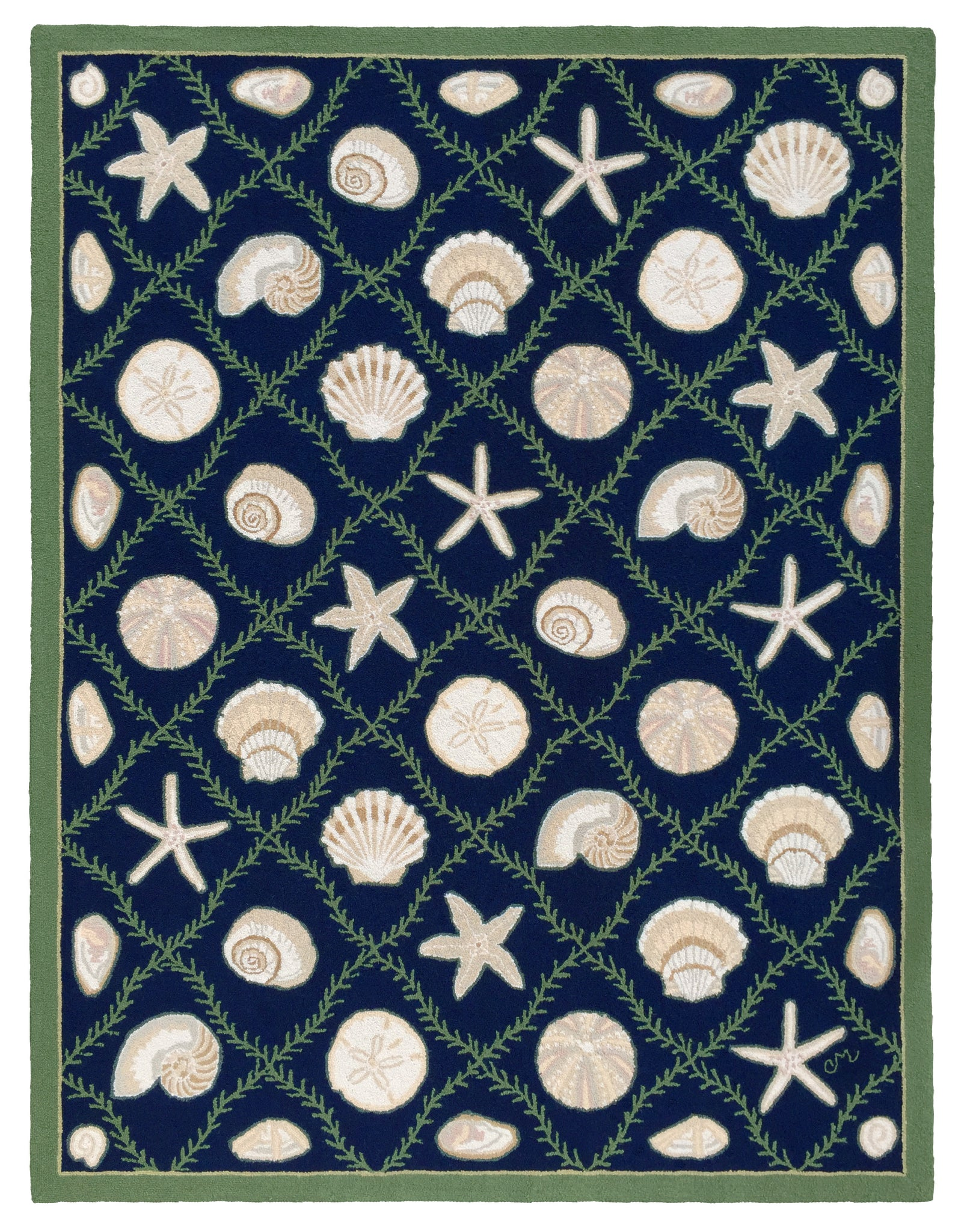 Cape Contemporary Shells Grid  7 x 9 R1312DKBL
