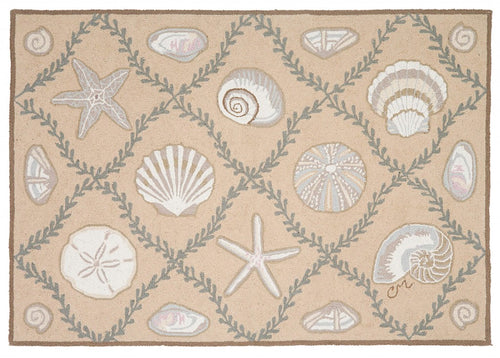 Cape Contemporary Shells Grid 3 x 5 Beige R1324BG