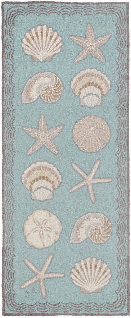 Cape Contemporary Shells 6' Runner R1330AQ