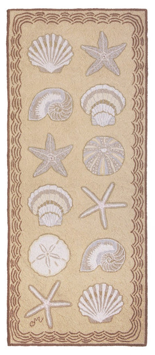 Cape Contemporary Shells 6' Runner R1330BG
