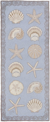 Cape Contemporary Shells 6' Runner R1330BL