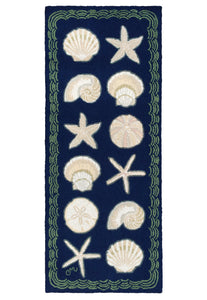 Cape Contemporary Shells 6' Runner R1330DKBL