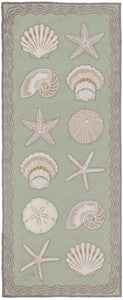Cape Contemporary Shells 6' Runner R1330GR