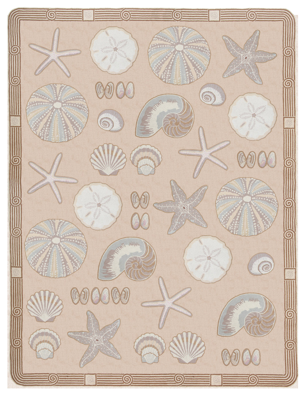 Cape Contemporary Shells Art Deco 9 x 12 Beige R1364BG-O