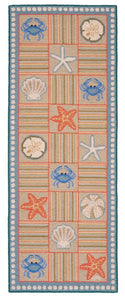 Chesapeake Bay Geo w/shells 6' Runner R1377