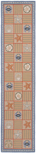 Chesapeake Bay Geo w/shells 10' Runner R1377L