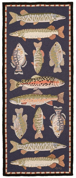 Fresh Water Fish 6' Runner R1414