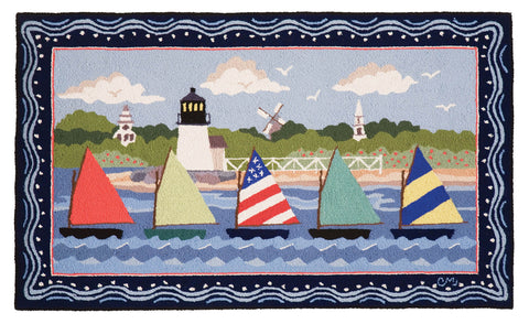 Nantucket Rainbow Fleet 3 x 5 R1586