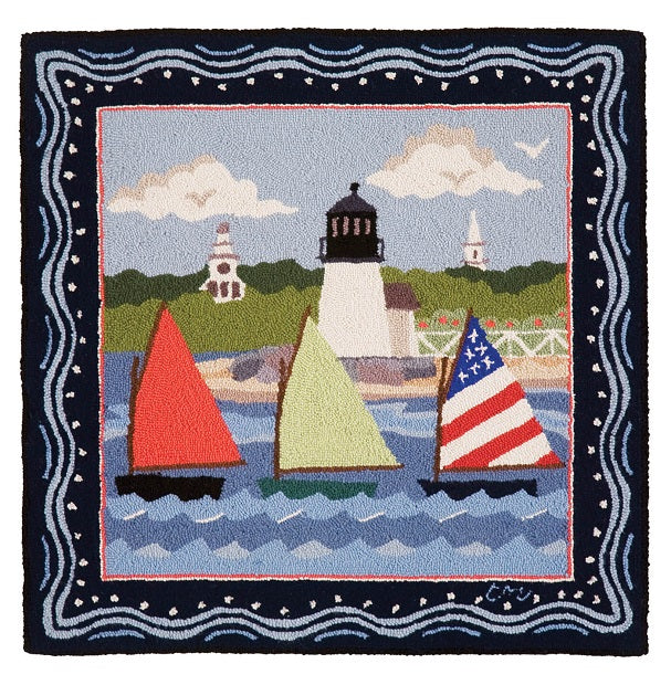 Nantucket Rainbow Fleet  3' Square R1589