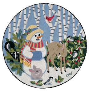 Winter Friends Snowgirl with Fawn Washable - 2812
