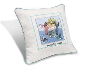 "Nantucket Bride Embroidered 14"" Pillow PNB14"