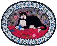 Country Cat Rug Hooking Kit K240