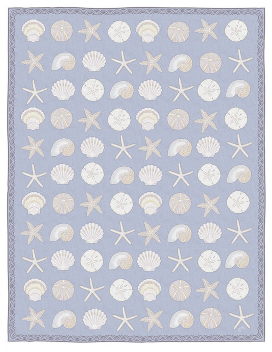 Cape Contemporary Shells 9 x 12 Blue R1385BL