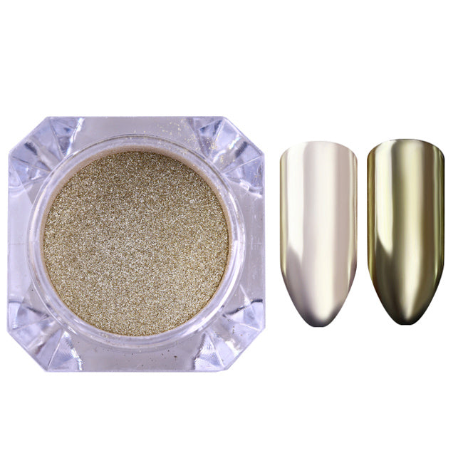 Manicure Nail Art Glitter Chrome Powder - Mirror Effect Glitter Pigmen