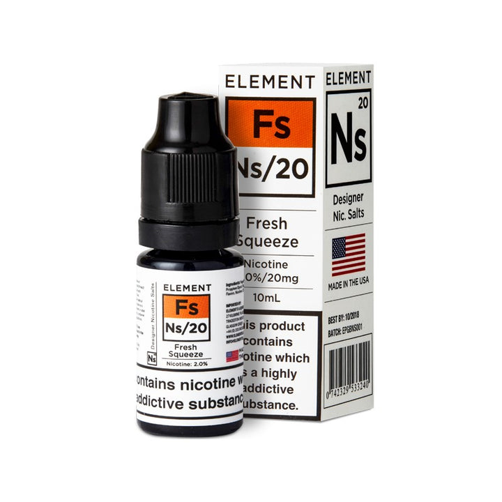 ELEMENT - 10ML NS20/10 FRESH SQUEEZE SALTS - Super E-cig Ltd