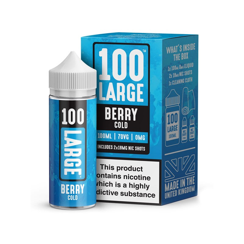 100 LARGE - 100ML BERRY COLD E LIQUID - Super E-cig Ltd