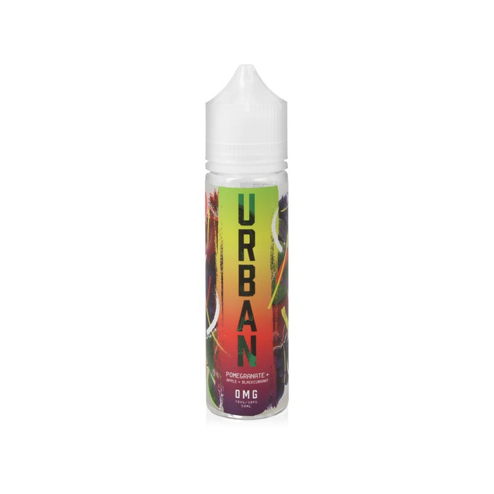 URBAN - 50ML POMERGRANATE, APPLE & BLACKCURRANT 0MG SHORTFILL E LIQUID - Super E-cig Ltd