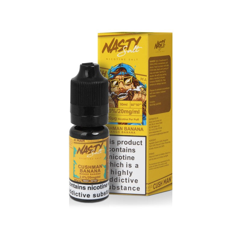 NASTY JUICE - 10ML CUSHMAN BANANA SALTS - Super E-cig Ltd