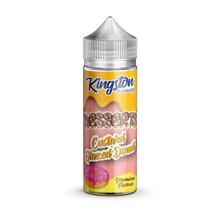 KINGSTON - 100ML DESSERTS CUSTARD GLAZED DONUT - Super E-cig Ltd