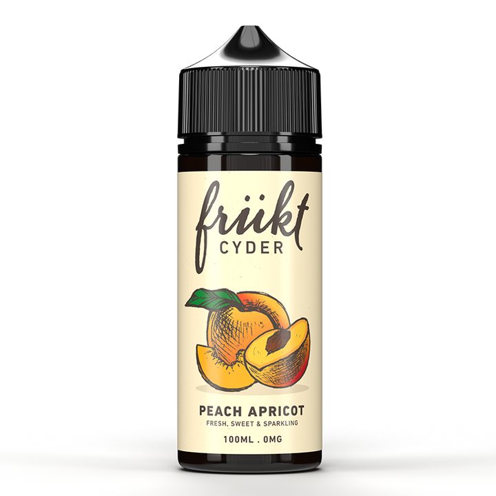 FRUKT CYDER - 100ML PEACH APRICOT 0MG SHORTFILL E LIQUID - Super E-cig Ltd