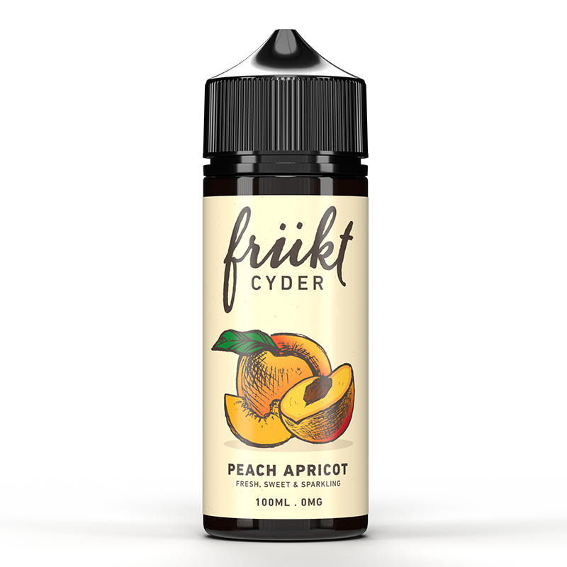 FRUKT CYDER - 100ML PEACH APRICOT E LIQUID - Super E-cig Ltd
