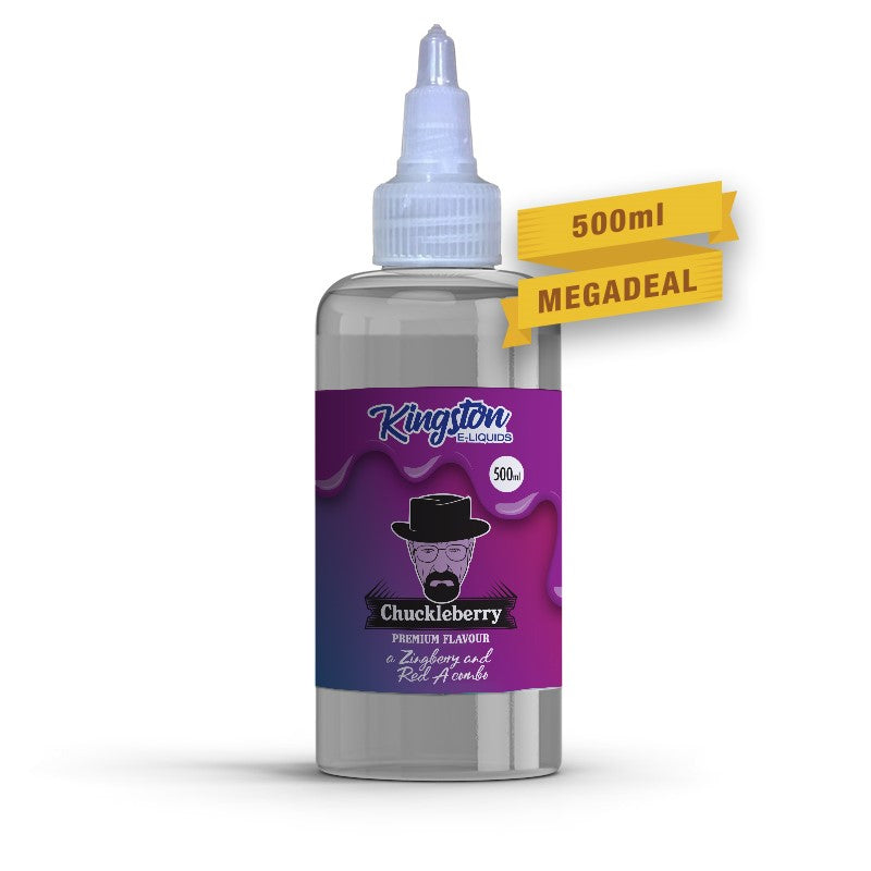 KINGSTON - 500ML CHUCKLEBERRY 0MG SHORTFILL E LIQUID - Super E-cig Ltd