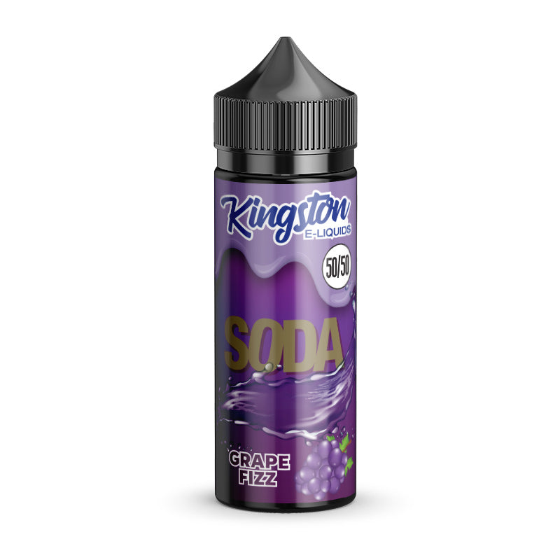 KINGSTON - 100ML SODA GRAPE FIZZ 50/50 0MG SHORTFILL E LIQUID - Super E-cig Ltd
