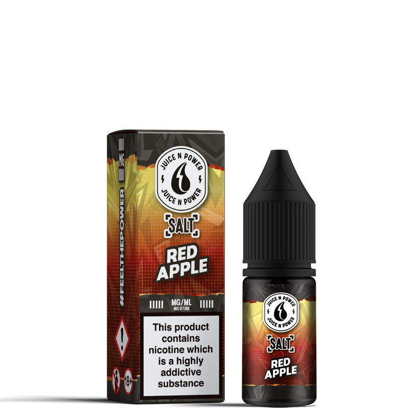 JUICE N POWER - 10ML RED APPLE NIC SALT E LIQUID - Super E-cig Ltd