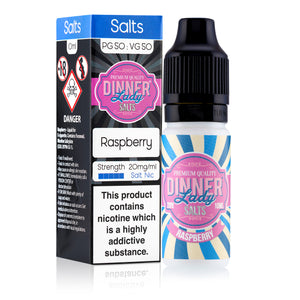 DINNER LADIES - 10ML RASPBERRY SALTS E LIQUID - Super E-cig Ltd