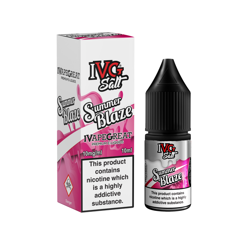 I VG - 10ML SUMMER BLAZE NIC SALT E LIQUID - Super E-cig Ltd