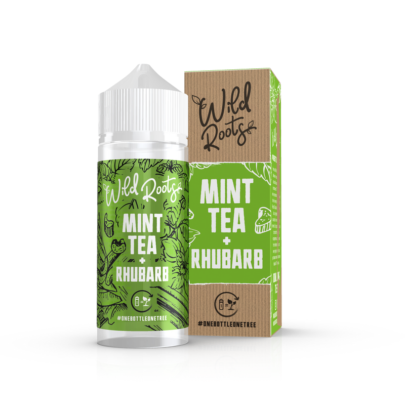 WILD ROOTS - 100ML MINT TEA & RHUBARB 0MG SHORTFILL E LIQUID - Super E-cig Ltd