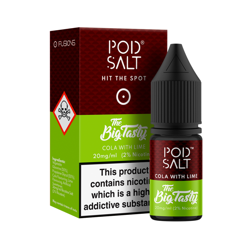 POD SALT - 10ML COLA WITH LIME NIC SALTS E LIQUID - Super E-cig Ltd