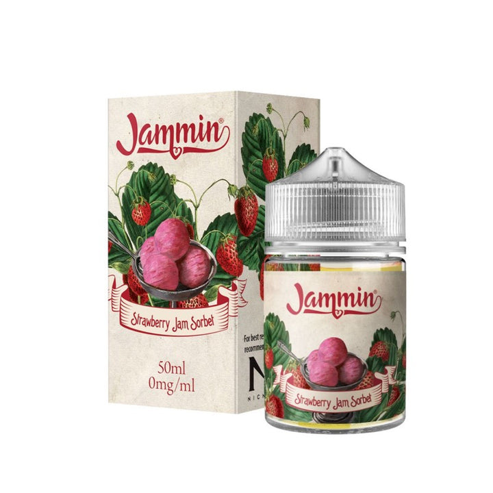 JAMMIN - 50ML STRAWBERRY JAM SORBET - Super E-cig Ltd