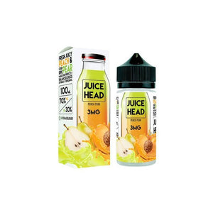 JUICE HEAD - 100ML PEACH PEAR E LIQUID - Super E-cig Ltd