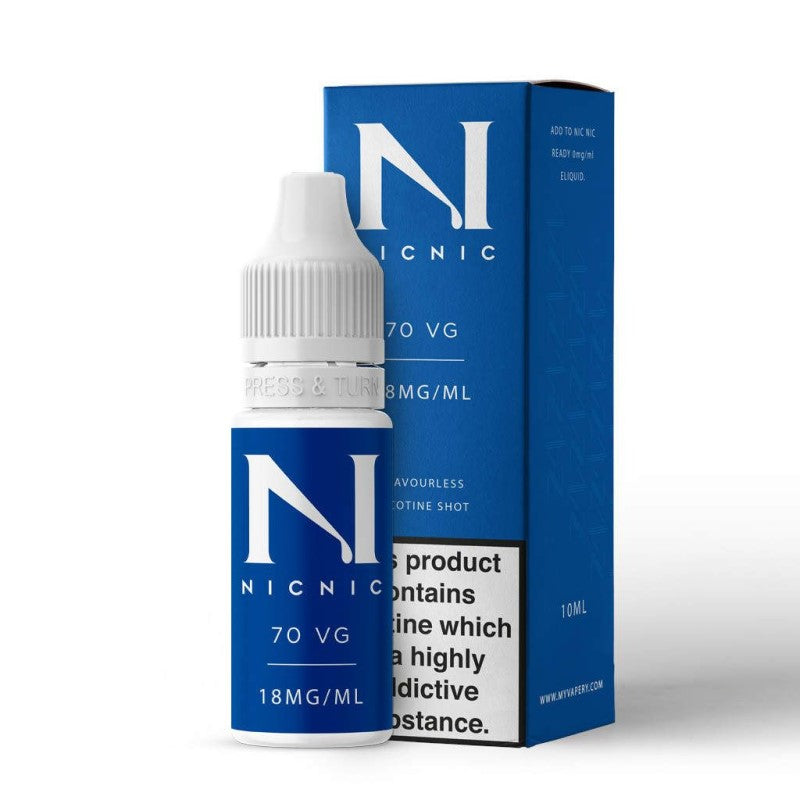 NICNIC - 10ML NICOTINE SHOT 70/30 VG/PG 5 PACK - Super E-cig Ltd