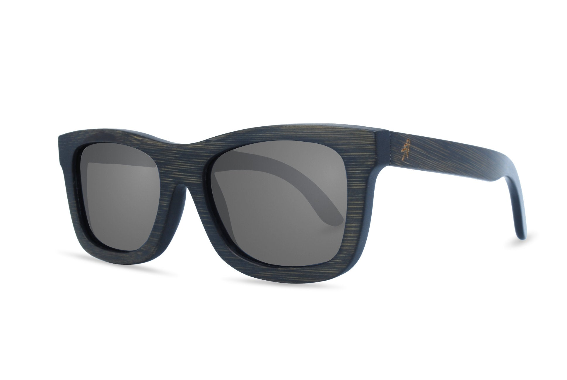 black stain bamboo sunglasses angle