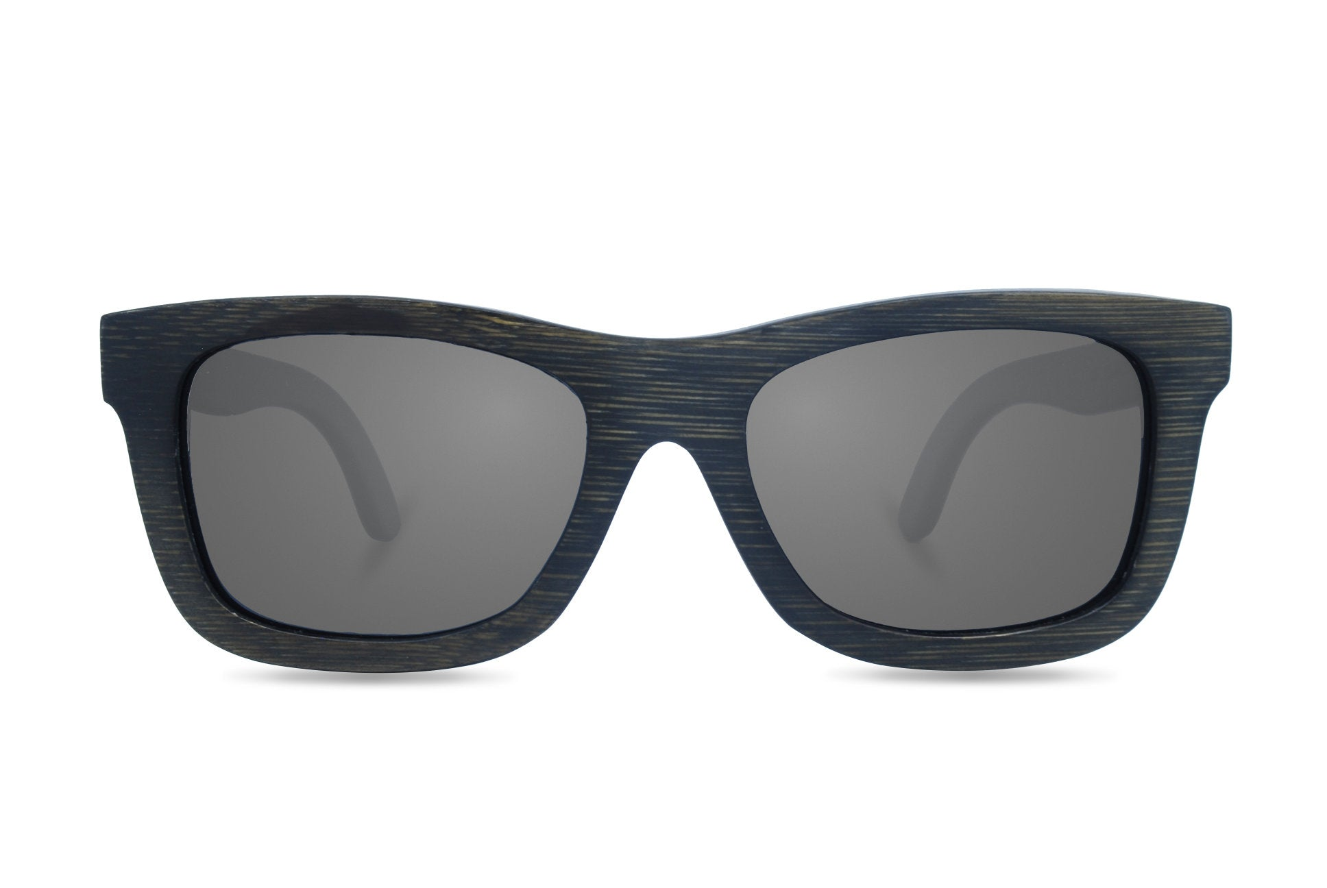 black stain bamboo sunglasses front