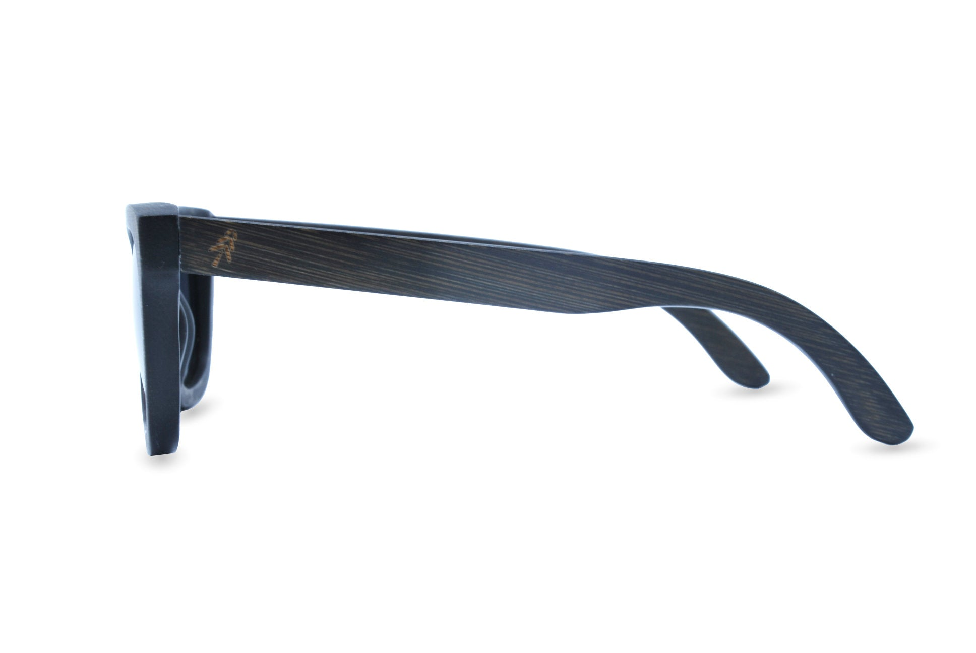 black stain bamboo sunglasses side