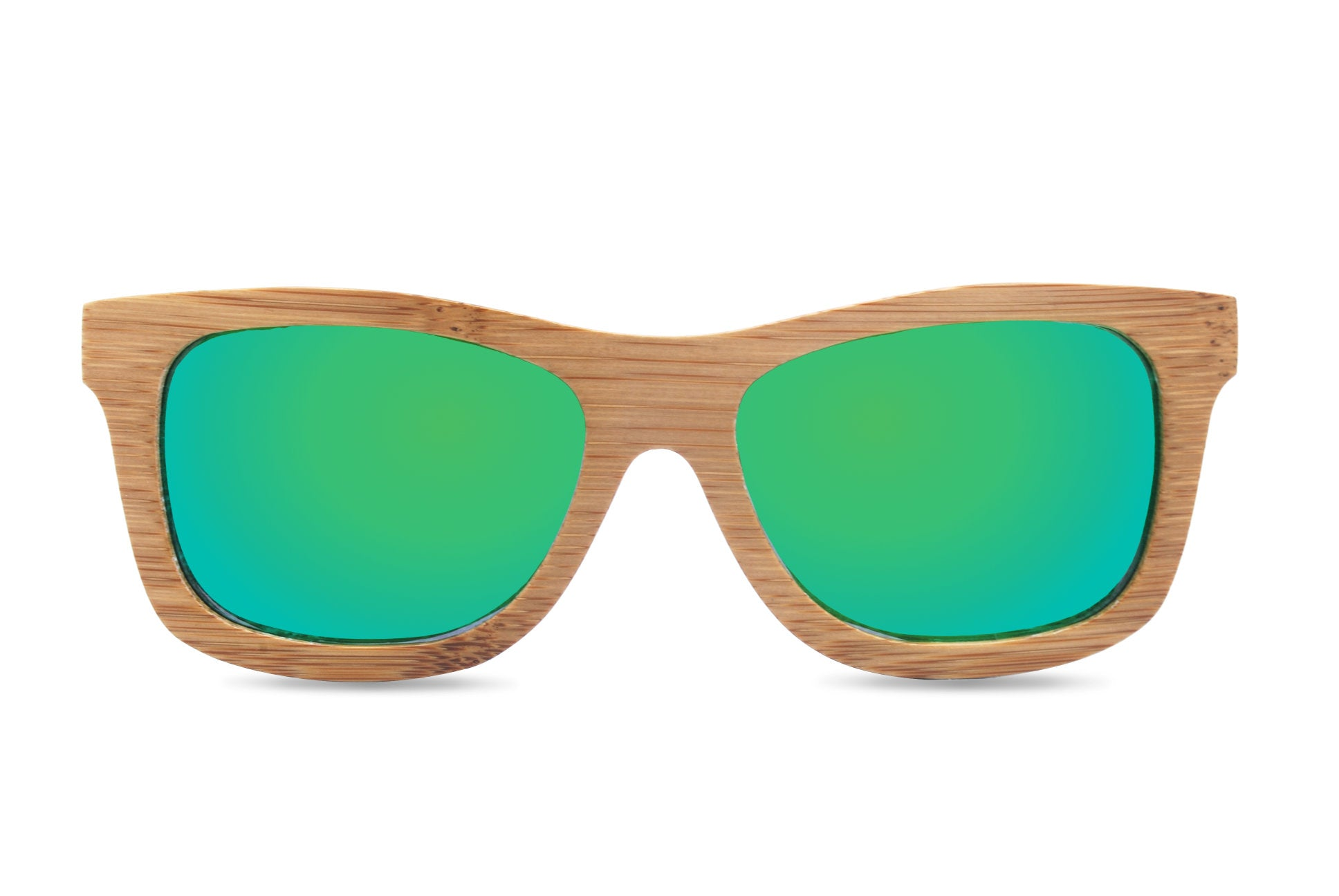 bamboo sunglasses green front