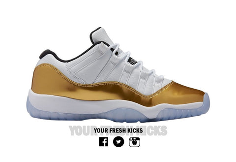 Men's Air Jordan 11 low | Gold
